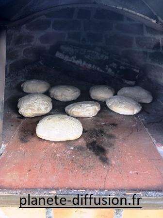 fouées en cuisson