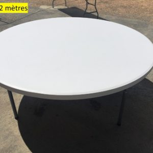 table ronde 2 mètres